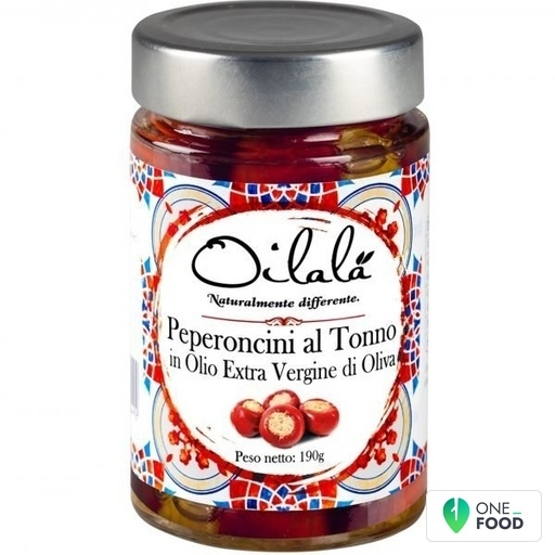 Cherry Peppers With Tuna In Extra Virgin Olive Oil 1 X 190 G